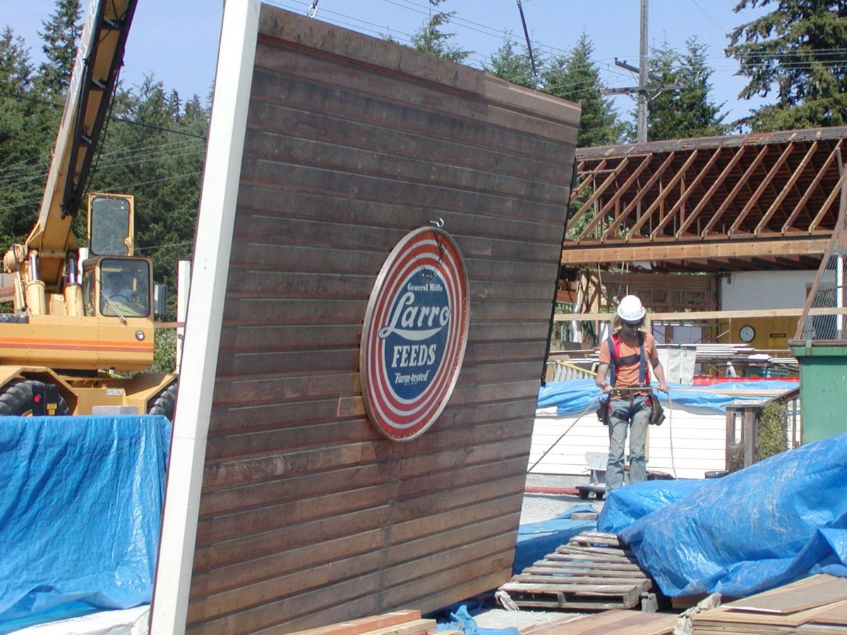 A large, local crew of construction workers, artisans, and metal workers made the new Cash Store a beautiful reality.